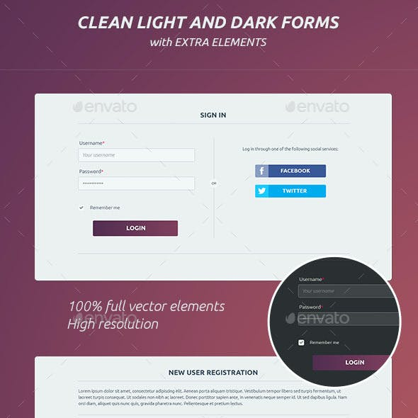 Clean Light And Dark Forms