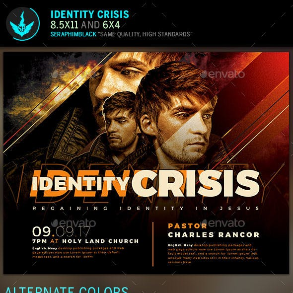 Identity Crisis Church Flyer Template