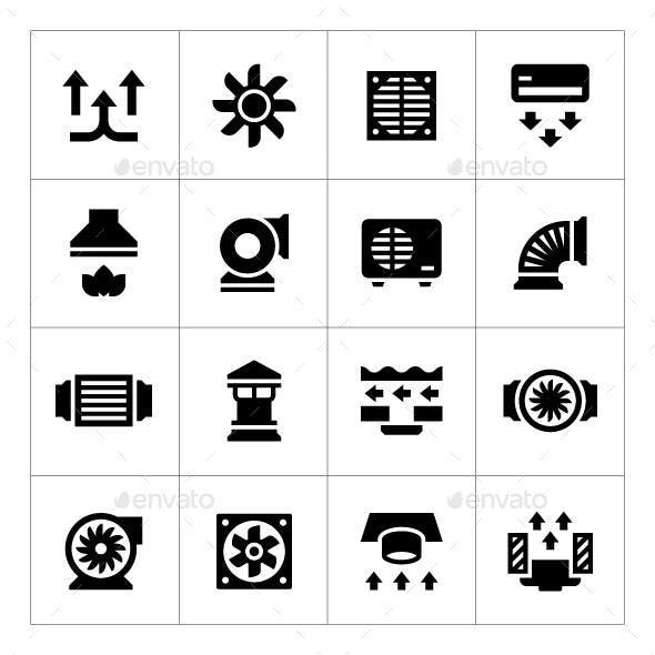 Set Icons of Ventilation and Conditioning