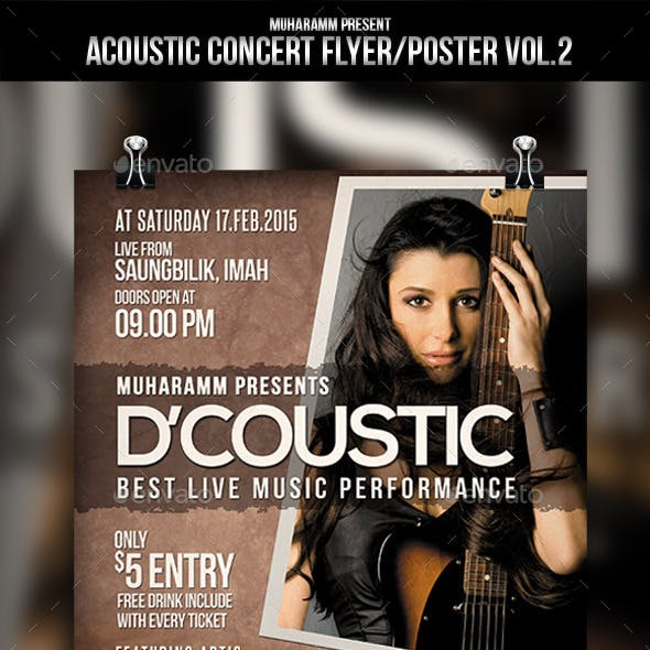 Acoustic Concert Flyer / Poster Vol.2
