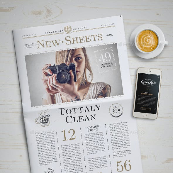 Newspaper Mock-Up - 4