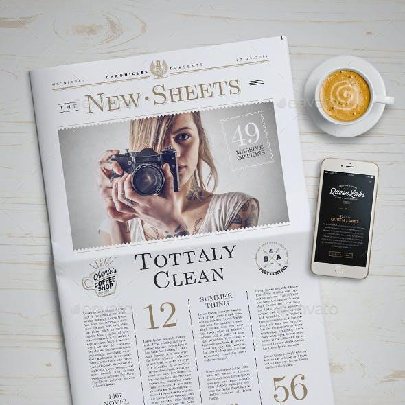 Newspaper Mock-Up - 4