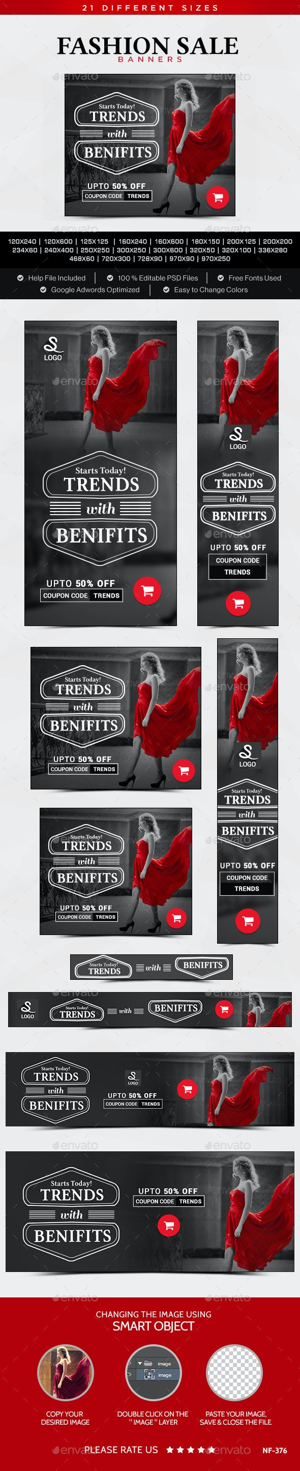 Fashion Sale Banners - Banners & Ads Web Elements