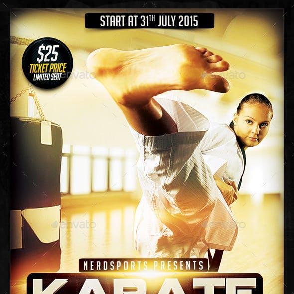 Karate Class 2K15 Sports Flyer