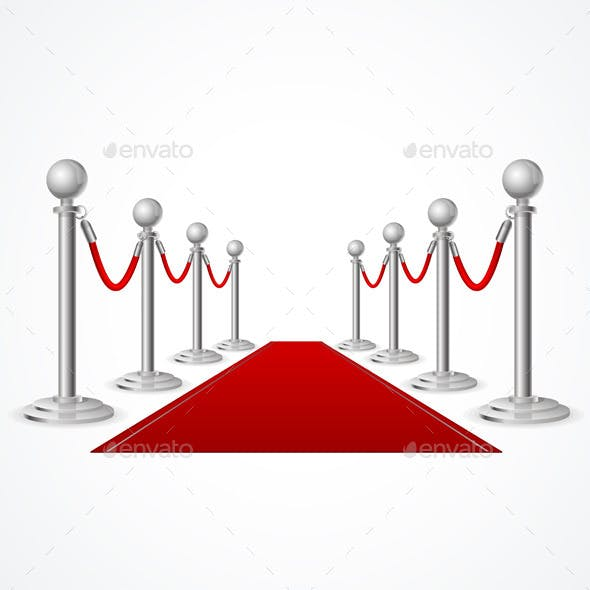 Vector Red Event Carpet