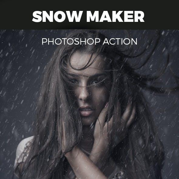 Snow Maker Photoshop Action