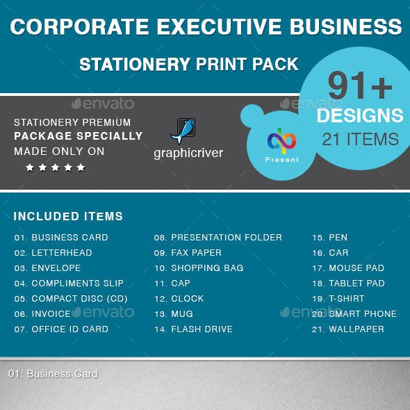 Corporate Executive Business Stationery Print Pack