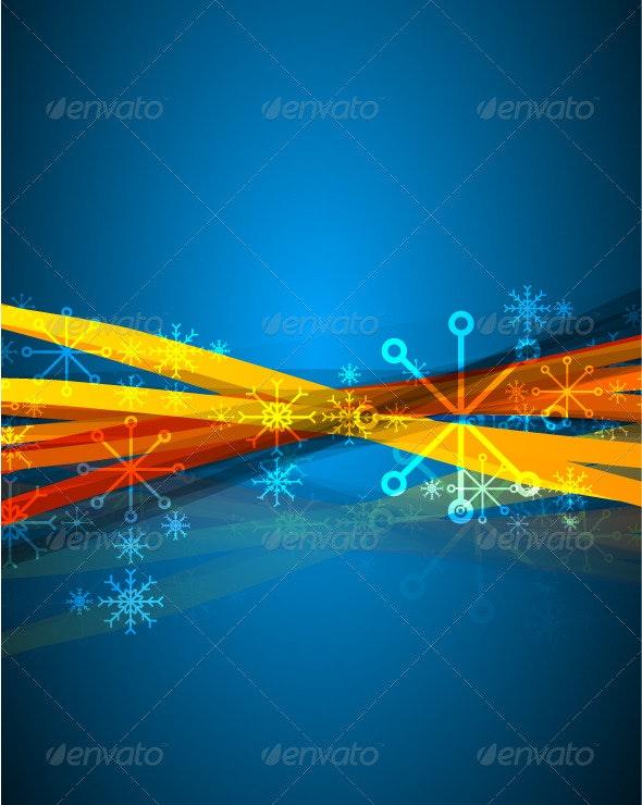 Blue vertical Christmas background - Christmas Seasons/Holidays