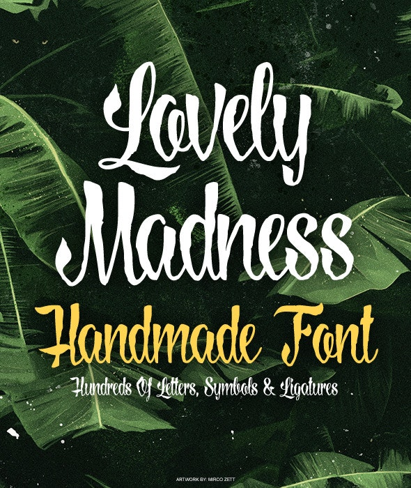Lovely Madness - Hand-writing Script