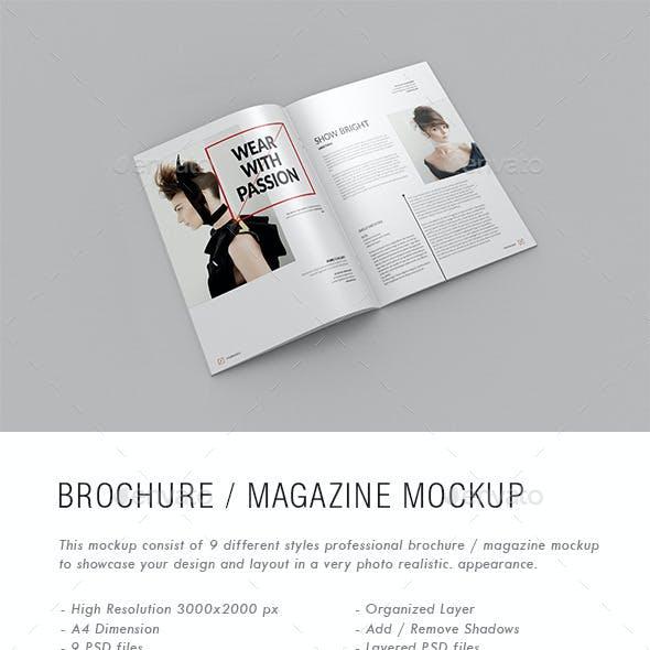 A4 Brochure / Magazine Mock-Ups