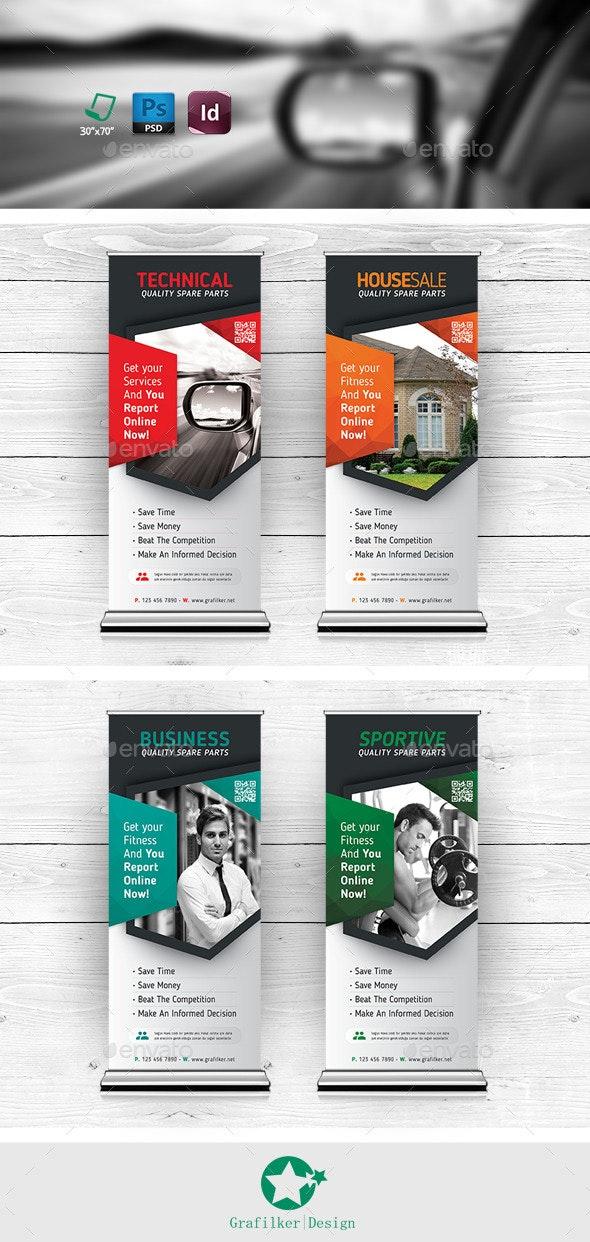 Multipurpose Roll-Up Templates - Signage Print Templates