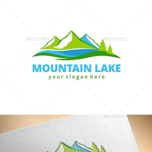 Mountain Lake Logo Template