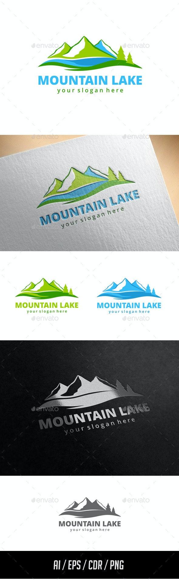 Mountain Lake Logo Template - Nature Logo Templates