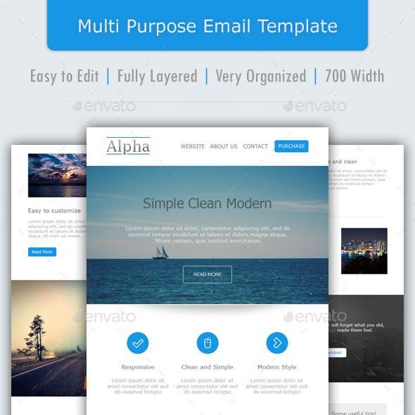 Alpha - Multipurpose Email Template