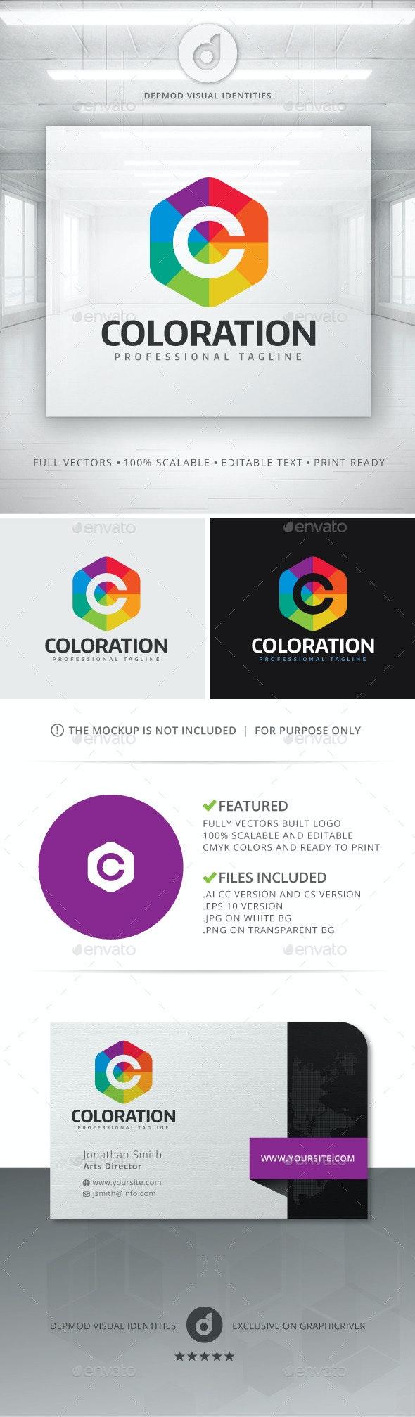 Coloration Logo - Letters Logo Templates