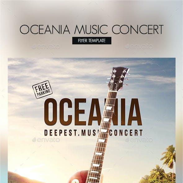 Oceania Music Concert Flyer