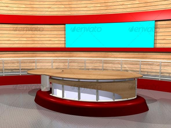 3D-TV_Studio_B_02 - Business Backgrounds