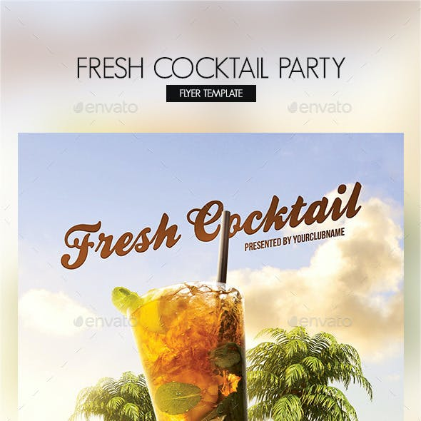 Fresh Cocktail Party Flyer