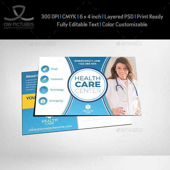 Health Medical Center Postcard Template