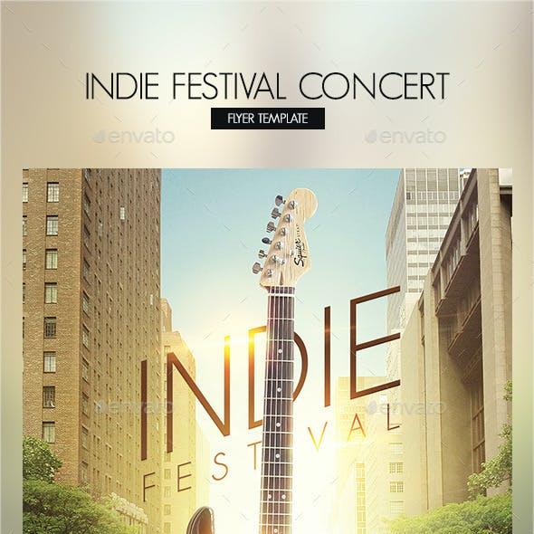 Indie Festival Concert Flyer