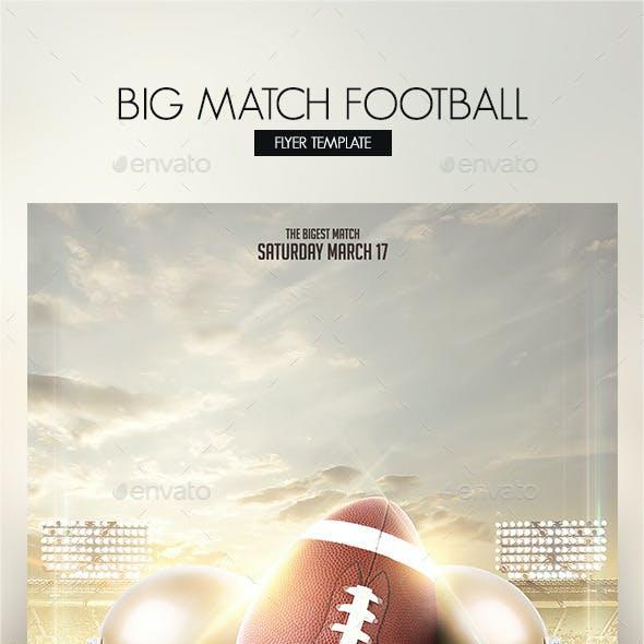 Big Match Football Flyer