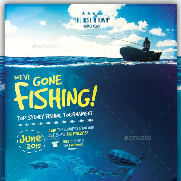We've Gone Fishing - Flyer Template