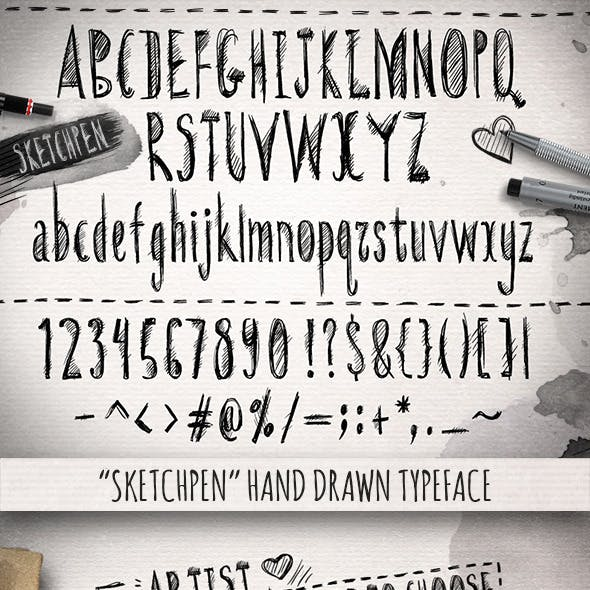 Sketchpen Typeface