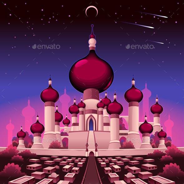 Arabian Castle in the Night