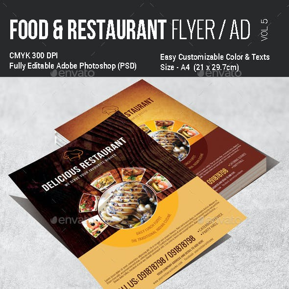 Multi Purpose Food Flyer - Vol5
