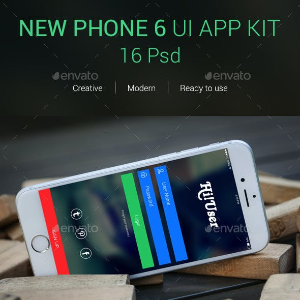 New Phone 6 UI APP KIT