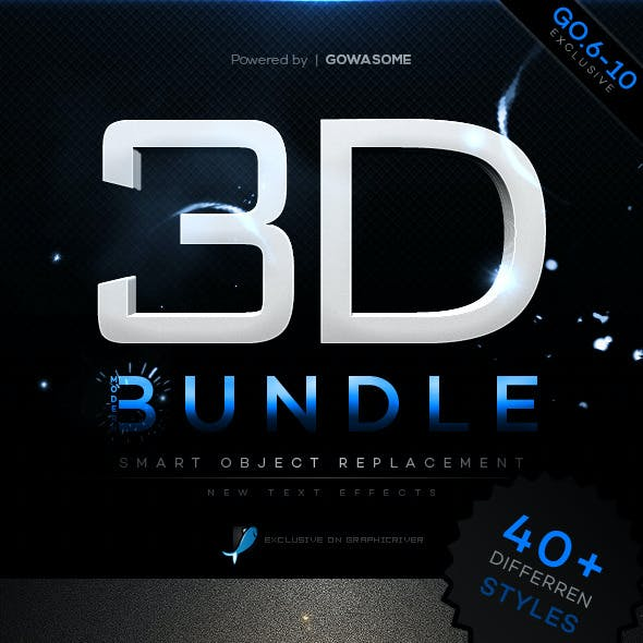 Modern 3D Text Effects Bundle
