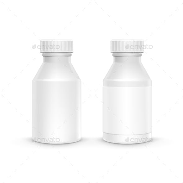 Plastic Packaging Bottle with Cap for Pills