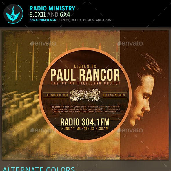 Radio Ministry Church Flyer Template