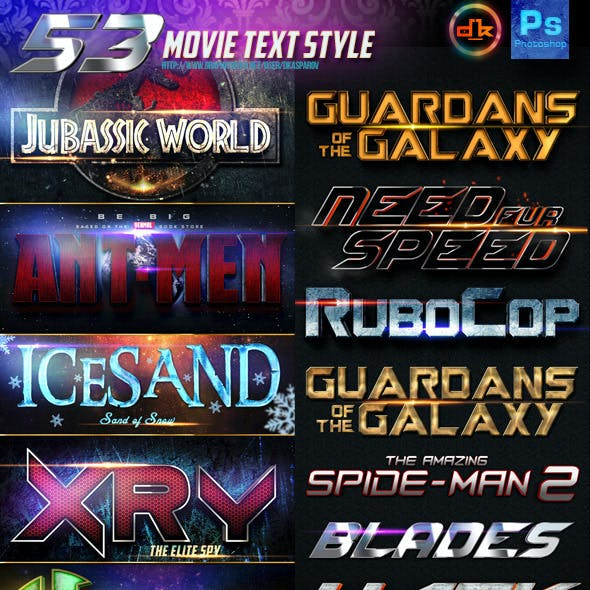 53 Movie Text Style Bundle