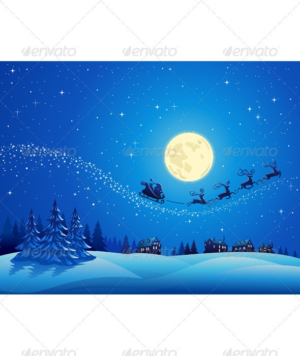 Santa Into the Winter Christmas Night 2 - Christmas Seasons/Holidays
