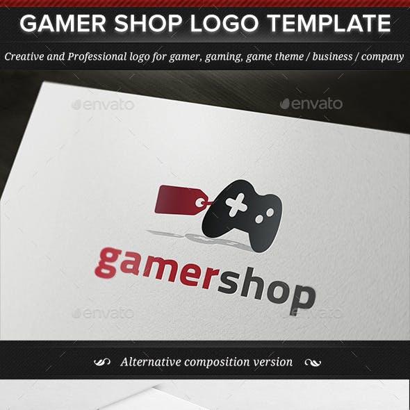 Gamer Shop Game Gaming Logo Template
