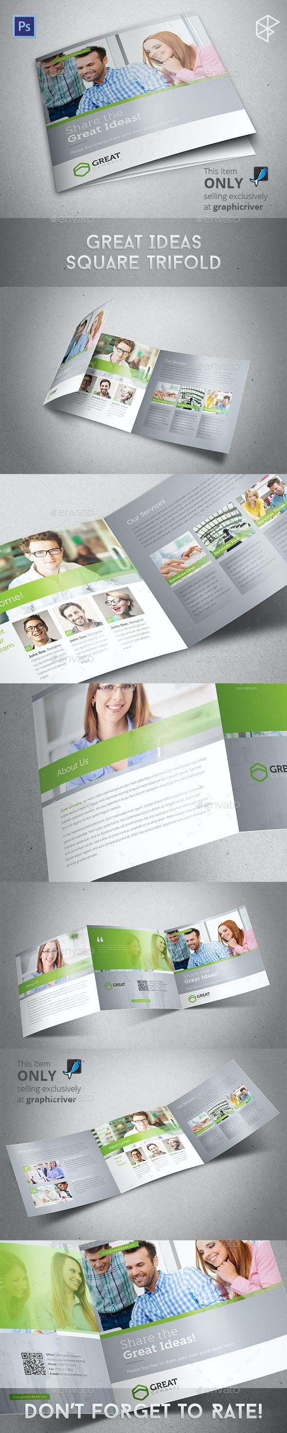 Ideas Square Trifold - Corporate Brochures