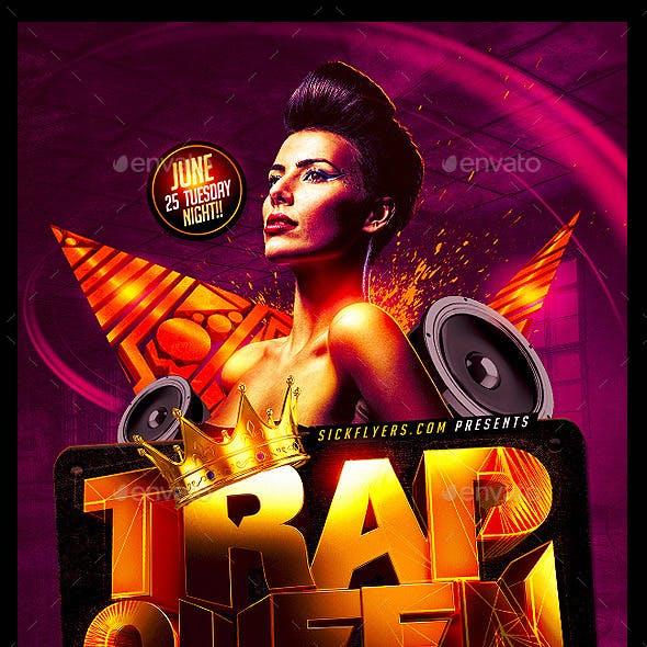 Trap Queen Ladies Night Flyer