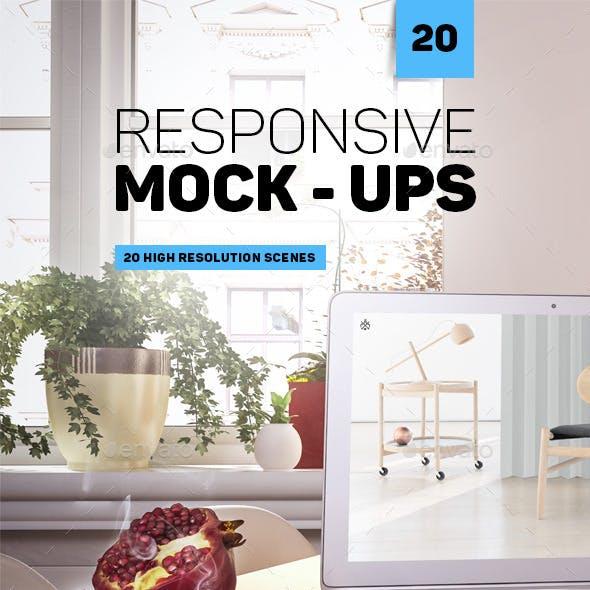 20 Responsive Mockups