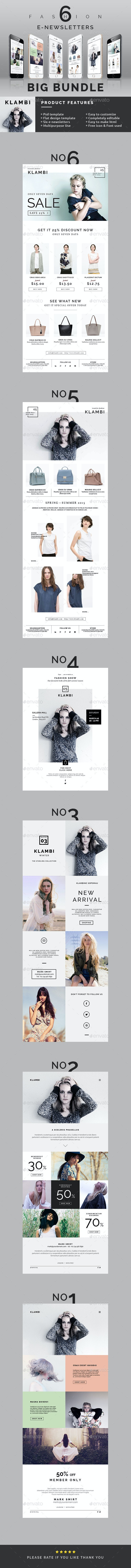 Fashion E-Newsletter Bundle