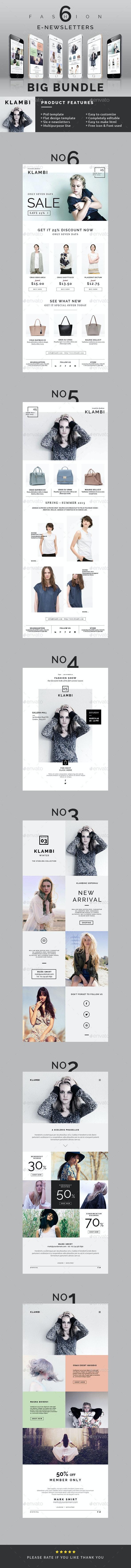 Fashion E-Newsletter Bundle - E-newsletters Web Elements