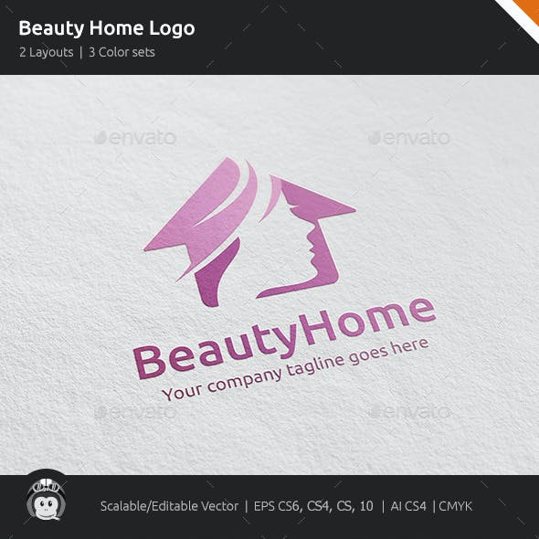 Beauty Home Woman House Logo