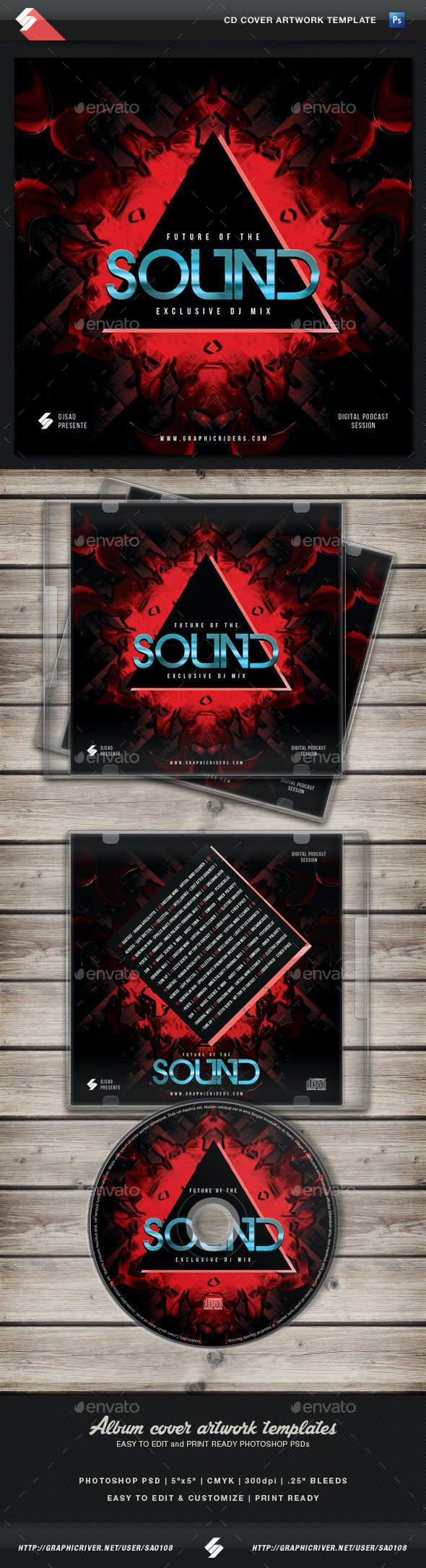 Future Of The Sound - CD Cover Artwork Template