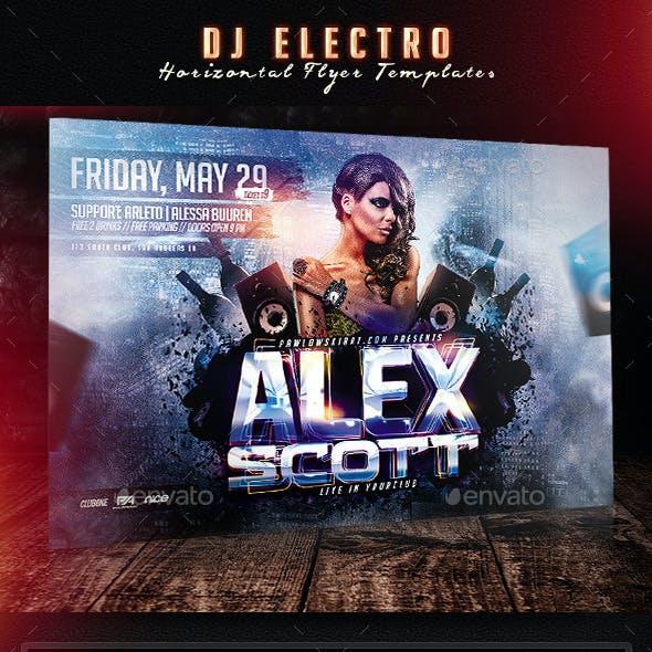 DJ Electro Horizontal Flyer Templates
