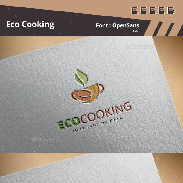 Eco Cooking Logo Template