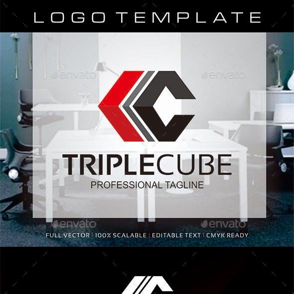 Triple Cube - Abstract C Logo