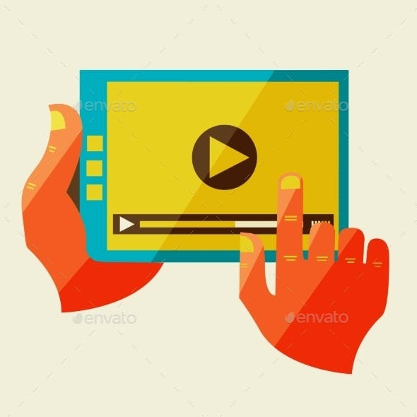 Creative Concept With Video Player