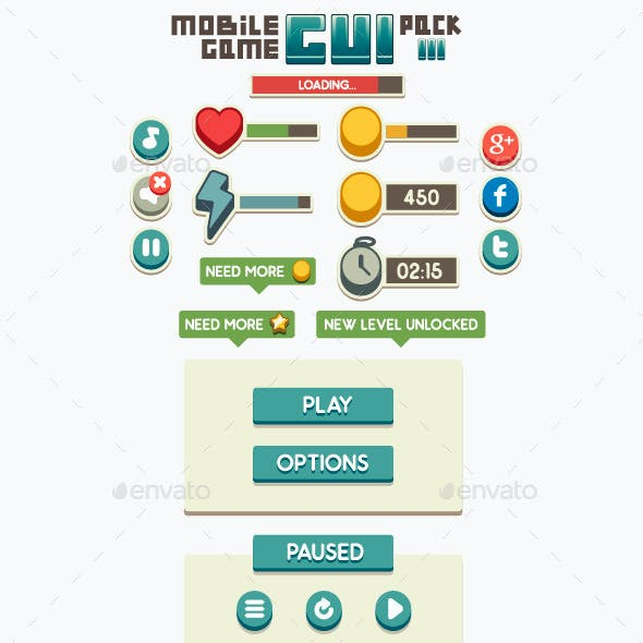 Mobile Game GUI Pack 3