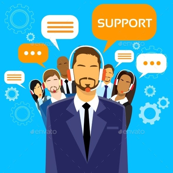 Support Business People Group Technical Team On