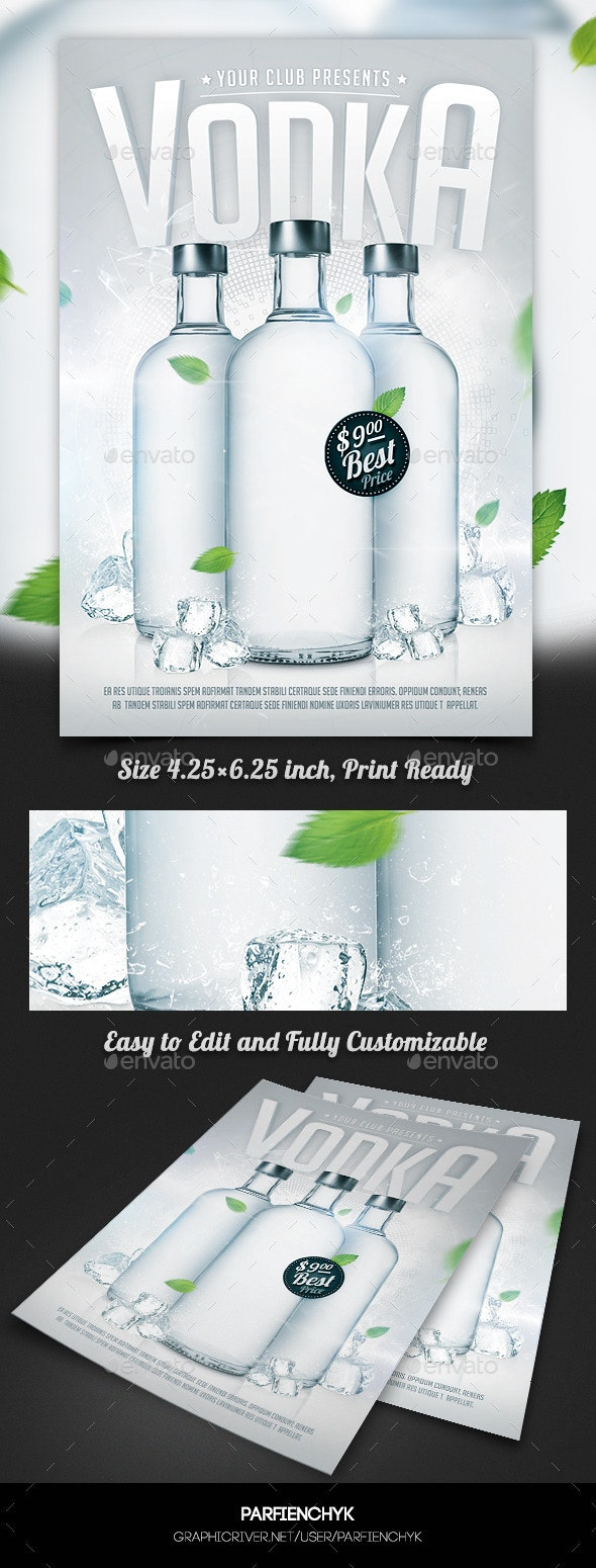 Vodka Party Flyer Template - Clubs & Parties Events